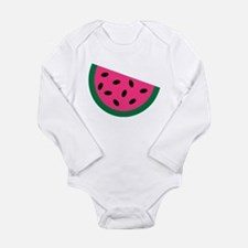 Watermelon Long Sleeve Infant Bodysuit