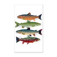 4 Char fish Rectangle Car Magnet