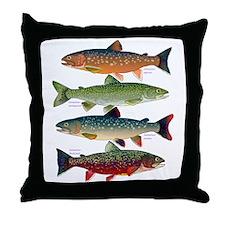 4 Char fish Throw Pillow