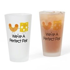 Couples Mac and Cheese Pair Drinking Glass