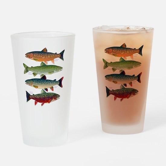 4 Char fish Drinking Glass