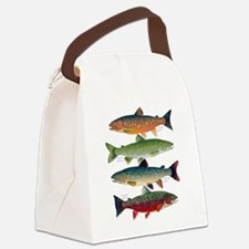 4 Char fish Canvas Lunch Bag