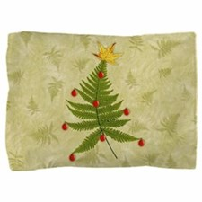 Nature Fern Christmas Tree Pillow Sham