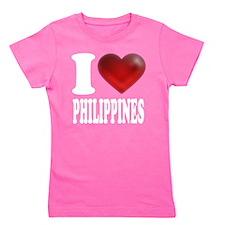 Cute Philippines heart Girl's Tee