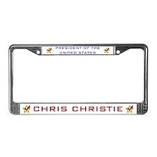 Chris Christie President USA C License Plate Frame