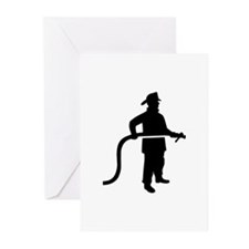 Firefighter Fireman Greeting Cards (Pk of 20)