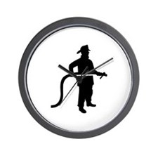 Firefighter Fireman Wall Clock