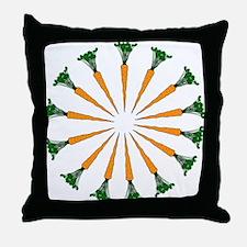 14 Carrot Ring Throw Pillow
