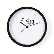 f4m Wall Clock