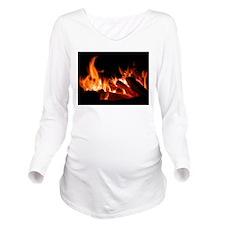 Campfire Long Sleeve Maternity T-Shirt