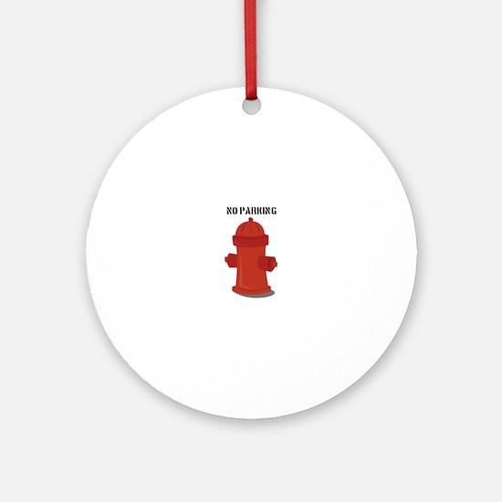 No Parking Ornament (Round)