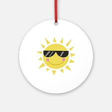Smile Sun Ornament (Round)