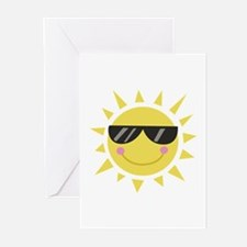 Smile Sun Greeting Cards