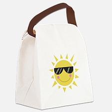 Smile Sun Canvas Lunch Bag