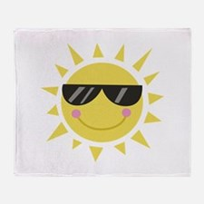 Smile Sun Throw Blanket