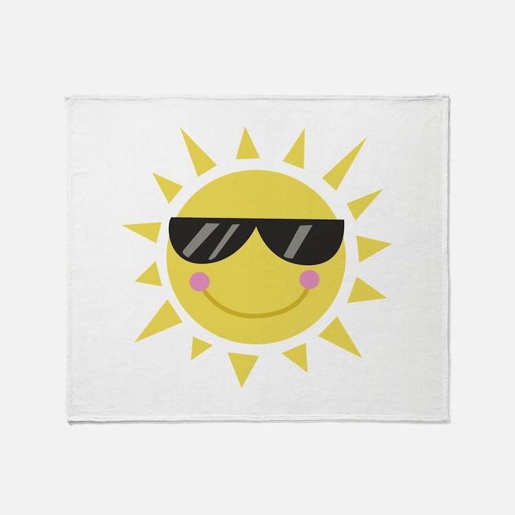 Smile Sun Throw Blanket