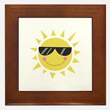Smile Sun Framed Tile