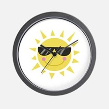 Smile Sun Wall Clock