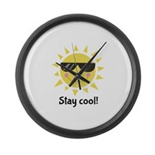 Stay Cool Large Wall Clock