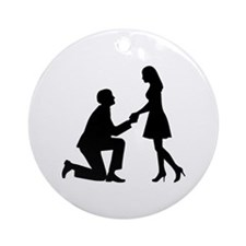 Wedding Marriage Proposal Ornament (Round)