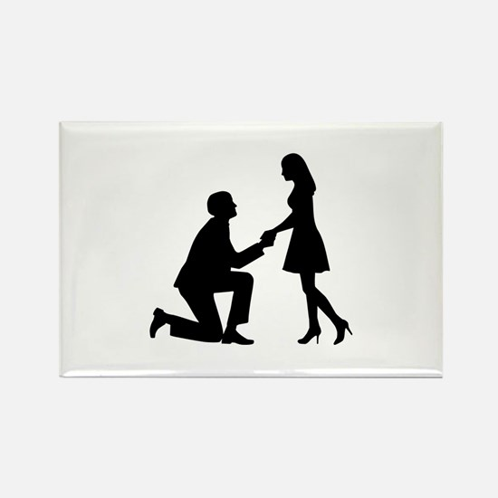 Wedding Marriage Proposal Rectangle Magnet