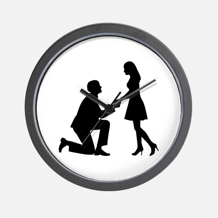 Wedding Marriage Proposal Wall Clock