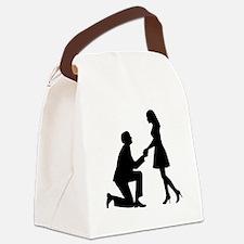 Wedding Marriage Proposal Canvas Lunch Bag