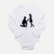 Wedding Marriage Propo Long Sleeve Infant Bodysuit