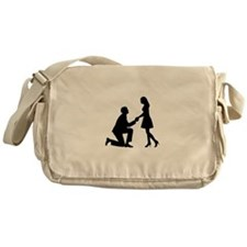 Wedding Marriage Proposal Messenger Bag