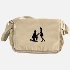 Wedding Marriage Proposal Messenger Bag