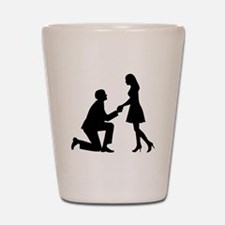 Wedding Marriage Proposal Shot Glass
