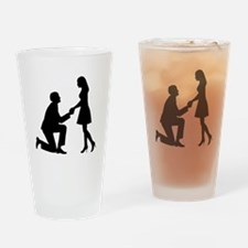 Wedding Marriage Proposal Drinking Glass