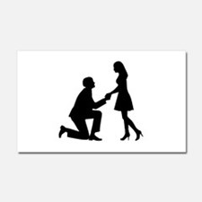 Wedding Marriage Proposal Car Magnet 20 x 12