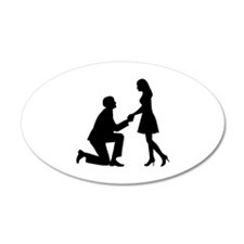 Wedding Marriage Proposal Decal Wall Sticker