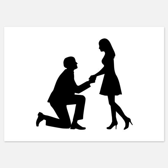 Wedding Marriage Proposal 5x7 Flat Cards