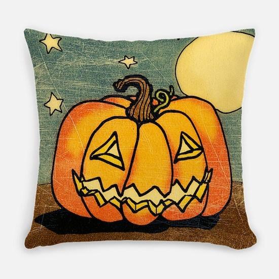 Cute Pumpkin Moon And Stars Master Pillow