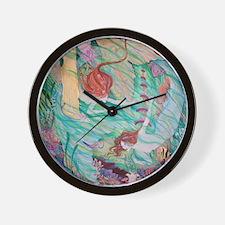 mermaids in atlantis Wall Clock