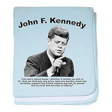 JFK Liberty baby blanket