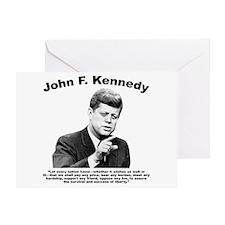 JFK Liberty Greeting Card