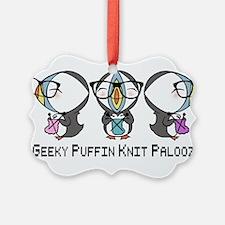 Geeky Puffin Knit Palooza Ornament