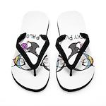 Geeky Puffin Knit Palooza Flip Flops