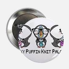 """Geeky Puffin Knit Palooza 2.25"""" Button (10 pack)"""