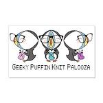 Geeky Puffin Knit Palooza Wall Sticker