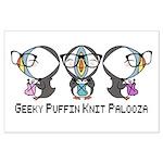 Geeky Puffin Knit Palooza Poster Art