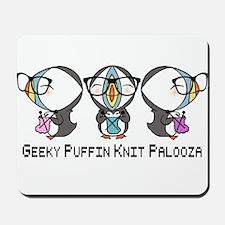 Geeky Puffin Knit Palooza Mousepad