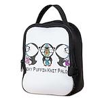 Geeky Puffin Knit Palooza Neoprene Lunch Bag
