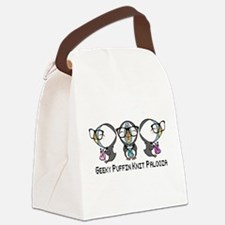 Geeky Puffin Knit Palooza Canvas Lunch Bag