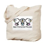 Geeky Puffin Knit Palooza Tote Bag