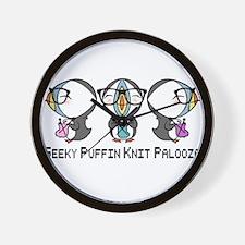 Geeky Puffin Knit Palooza Wall Clock