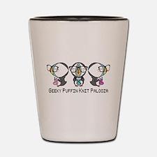Geeky Puffin Knit Palooza Shot Glass
